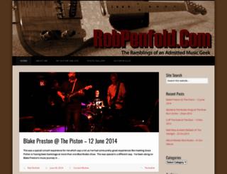 robpenfold.com screenshot