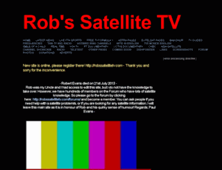 robssatellitetv.webs.com screenshot