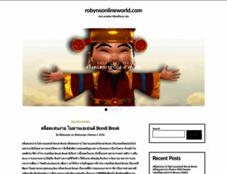 robynsonlineworld.com screenshot