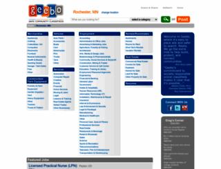 rochester-mn.geebo.com screenshot