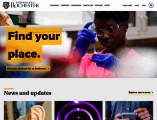 rochester.edu screenshot