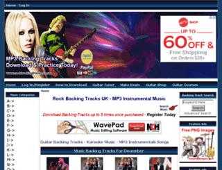 rockbackingtracks.co.uk screenshot