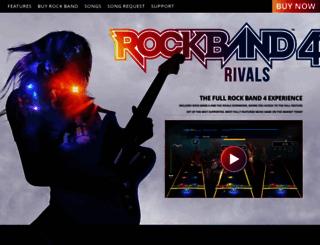 rockband.com screenshot