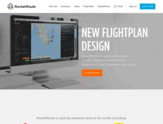 rocketroute.com screenshot