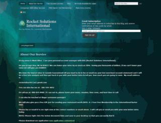 rocketsolutions.wordpress.com screenshot