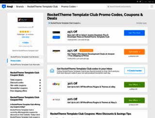 rocketthemetemplateclub.bluepromocode.com screenshot
