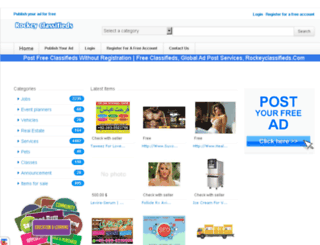 rockeyclassifieds.com screenshot