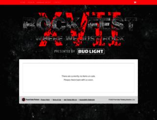 rockfest.frontgatetickets.com screenshot