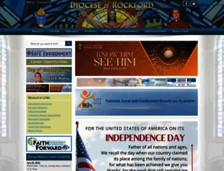 rockforddiocese.org screenshot