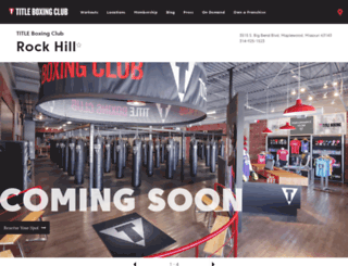 rockhill.titleboxingclub.com screenshot
