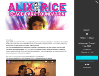 rockinforrice.splashthat.com screenshot