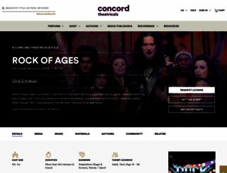 rockofagesmusical.com screenshot