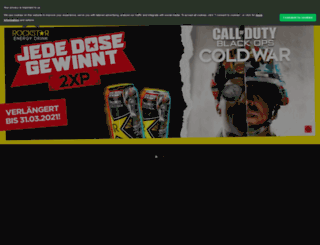 rockstarenergydrink.de screenshot