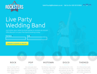 rocksters.co.uk screenshot