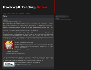 rockwelltradingscam.wordpress.com screenshot