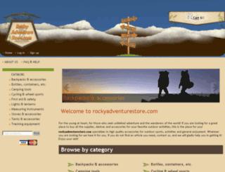 rockyadventurestore.com screenshot