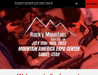 rockymountaingunshow.com screenshot