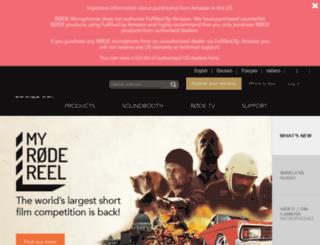 rode.com.au screenshot