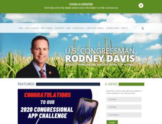 rodneydavis.house.gov screenshot