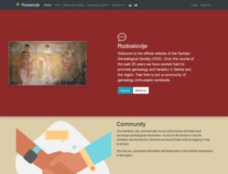rodoslovlje.com screenshot