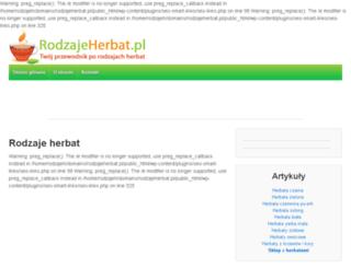 rodzajeherbat.pl screenshot