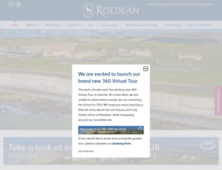 roedean.co.uk screenshot