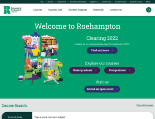 roehampton.ac.uk screenshot