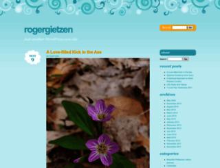 rogergietzen.wordpress.com screenshot