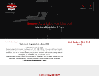 rogersautosales.com screenshot