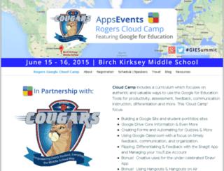 rogerscloudcamp.appsevents.com screenshot