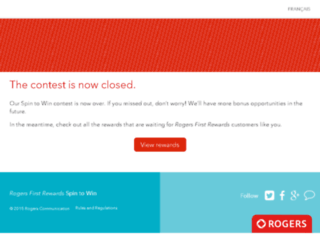 rogersspintowin.ca screenshot