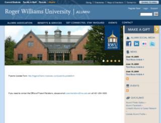 rogerwilliams.imodules.com screenshot