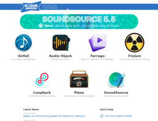 rogueamoeba.com screenshot