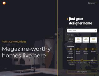 rohitcommunities.com screenshot