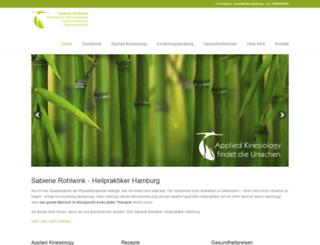 rohlwink-heilpraktiker.de screenshot