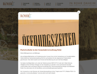 rohr-mfr.de screenshot