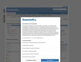 rohstoffe.finanztreff.de screenshot