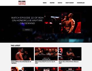 rohwrestling.com screenshot