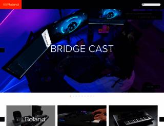 roland.com screenshot
