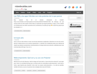 rolandocaldas.com screenshot