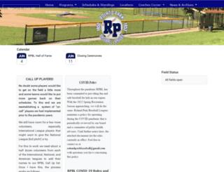 rolandparkbaseball.com screenshot