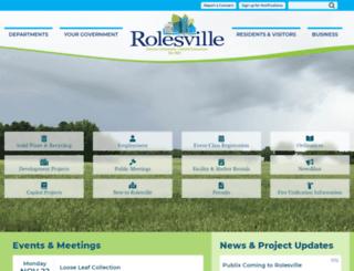 rolesvillenc.gov screenshot