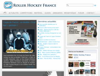 rollerhockeyfrance.com screenshot