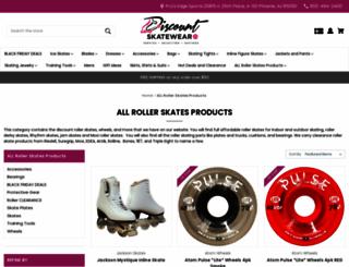 rollerskates.discountskatewear.com screenshot