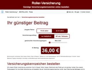 rollerversichern.de screenshot