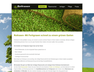rollrasen-verlegen.de screenshot