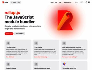 rollupjs.org screenshot