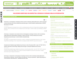 rolnictwo.lodzkie.pl screenshot