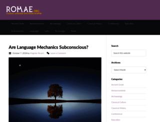 romae.org screenshot
