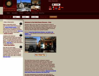 romahotelflorence.com screenshot